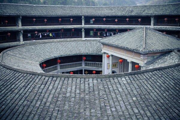 Hakka Earth Building, Yongding, Fujian, China