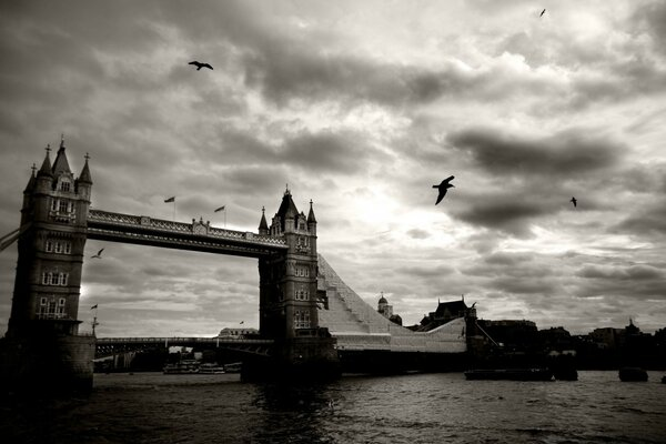 Vintage Picture Of Tower Bridge, London, UK