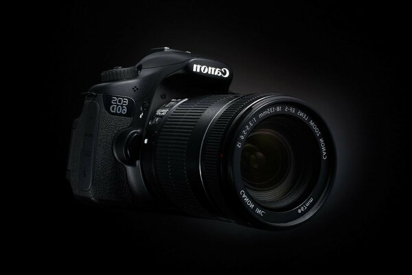 camera 60d canon black background