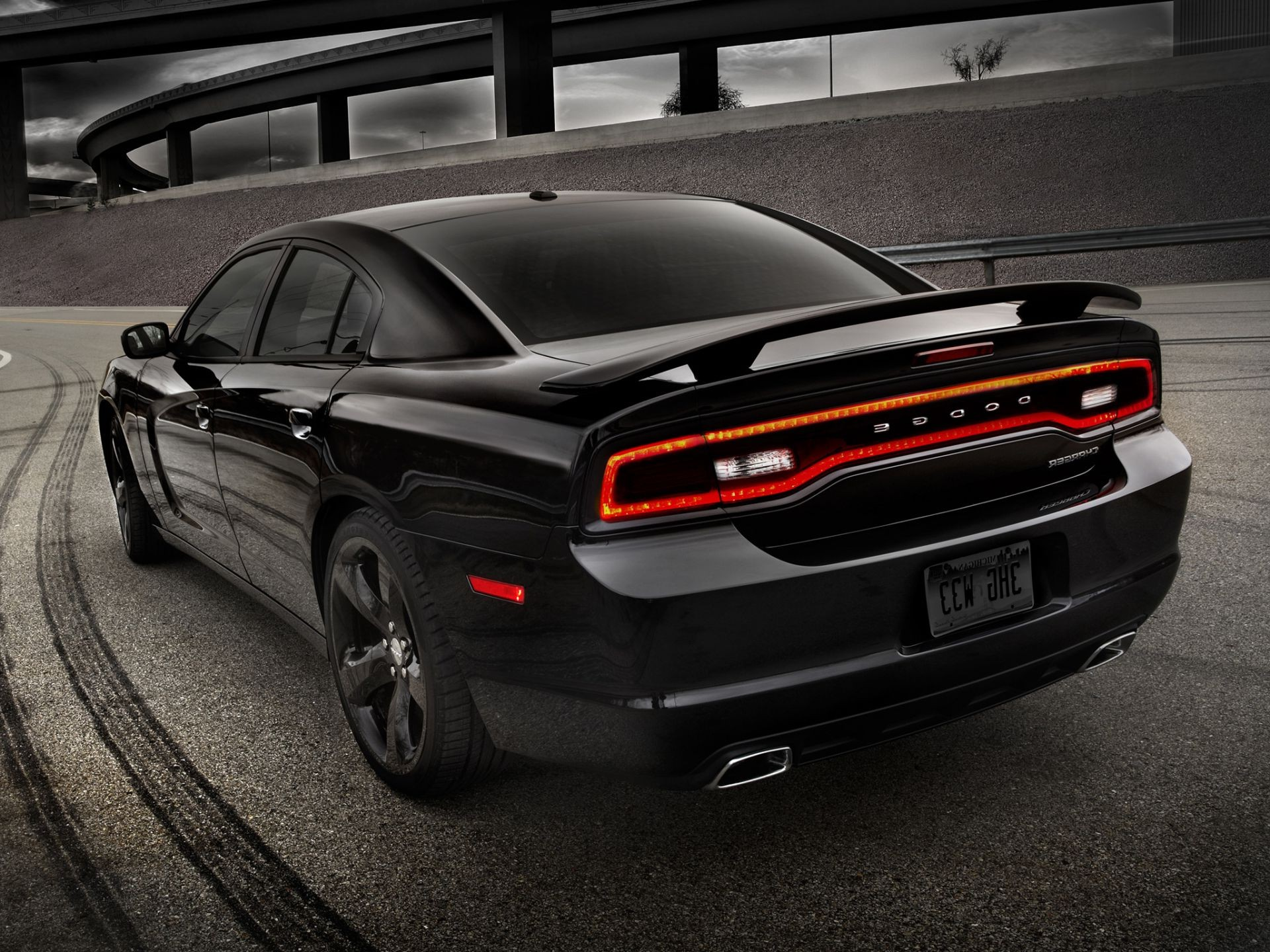 Charger Dodge Dodge Charger Blacktop 2012 Phone Wallpapers