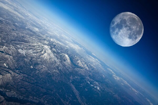 Moon view of earth