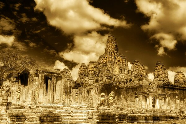 The Towers Of Angkor Thom, Cambodia