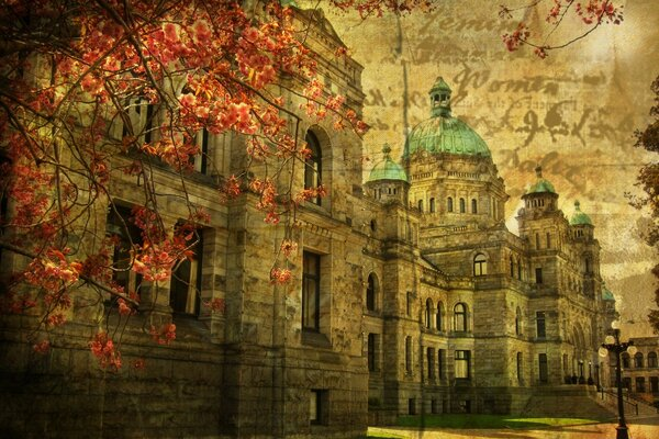 British Columbia Parliament Buildings Vintage