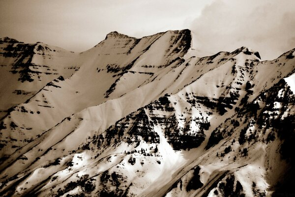 Mount Timpanogos (Vintage Photography)