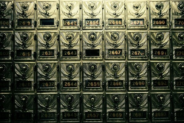 Vintage Post Office Boxes