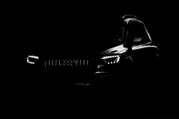 Silhouette Of An Audi