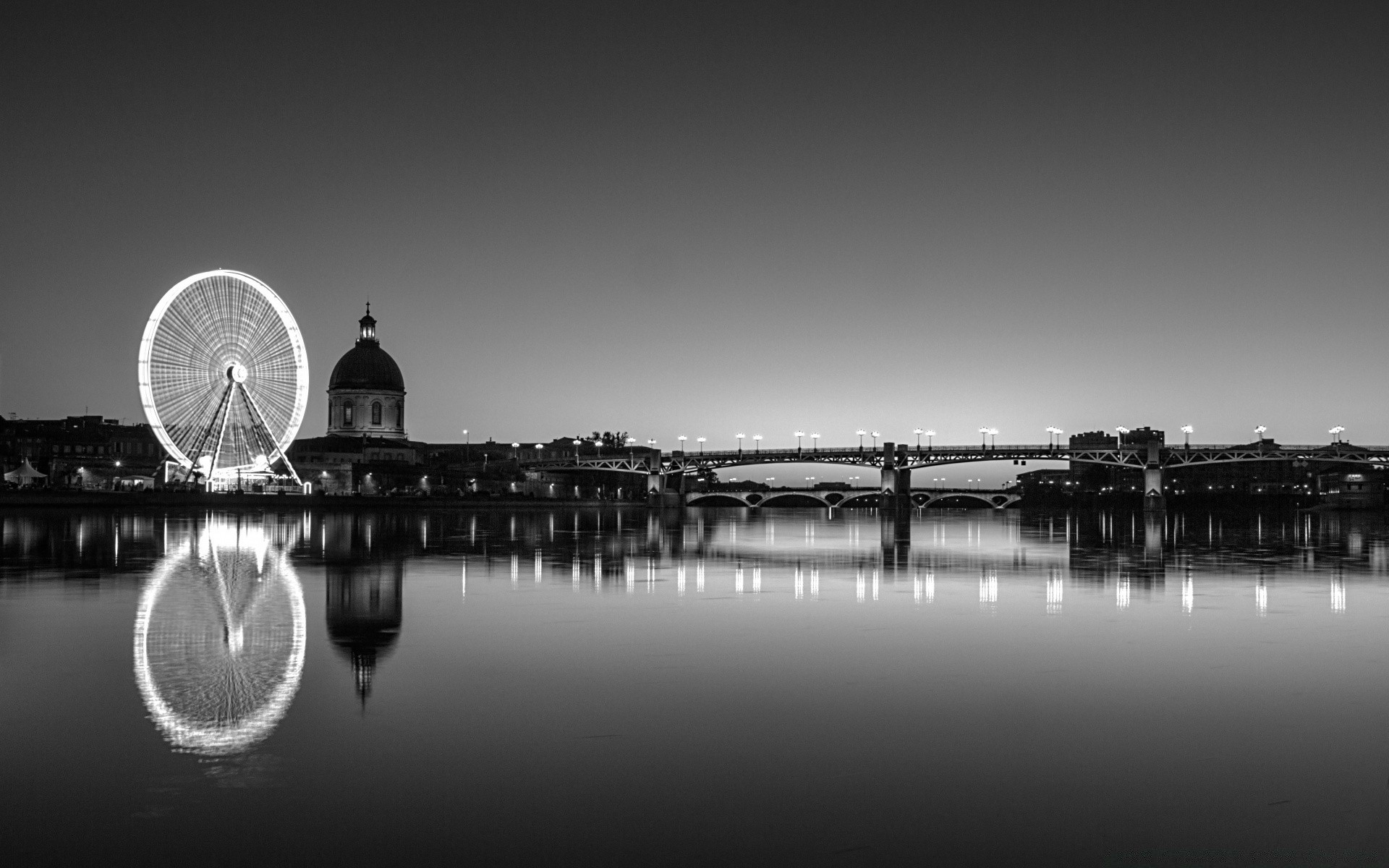 black and white reflection water sunset river bridge city lake monochrome dawn architecture sky silhouette landscape evening boat beach sea travel light pier