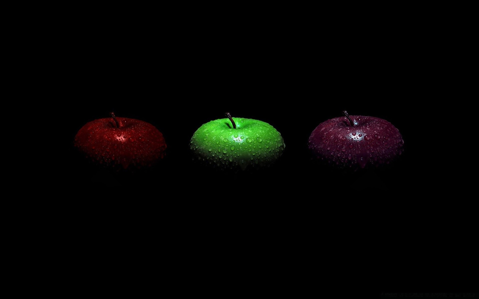 red apple green apple and purple apple. desktop wallpapers for free.