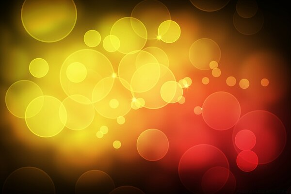 Yellow Red Bubbles