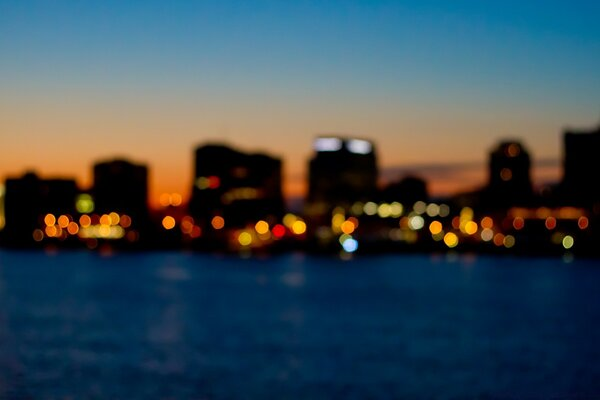 City Skyline Bokeh