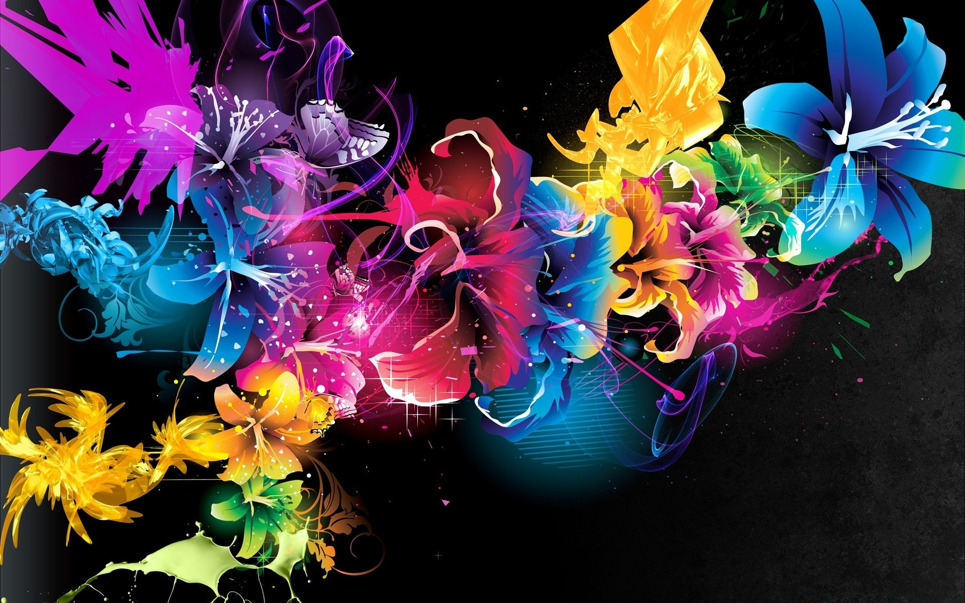 colorful flowers. desktop wallpapers for free.