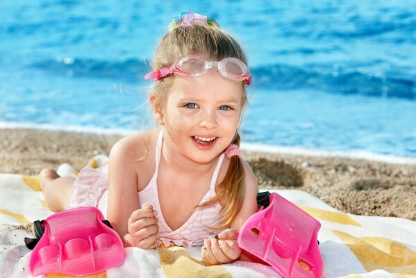 happiness joy cheerful child children cute beach Happ