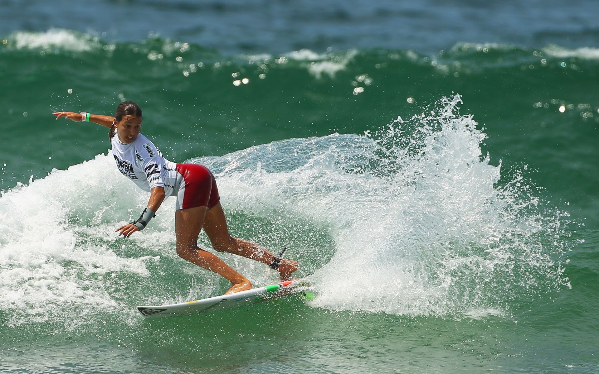 Board girl Sports wave sea