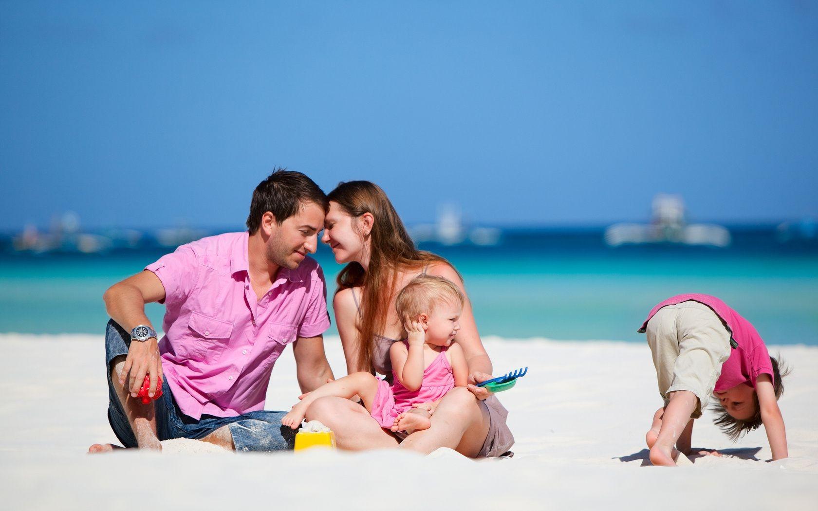 фото на пляже семейное фото