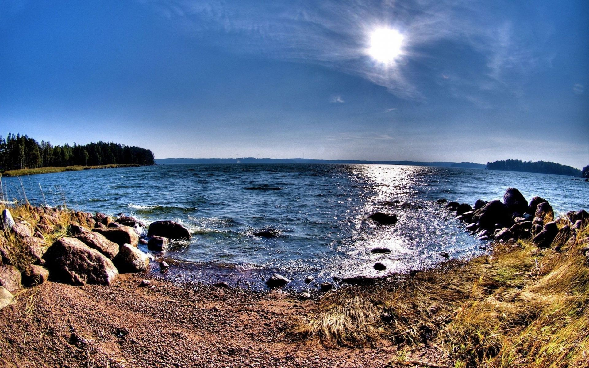 lake water sea ocean seashore beach landscape sky rock travel nature seascape sunset shore outdoors scenic summer surf