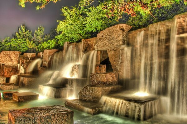 Artificial Waterfall HDR