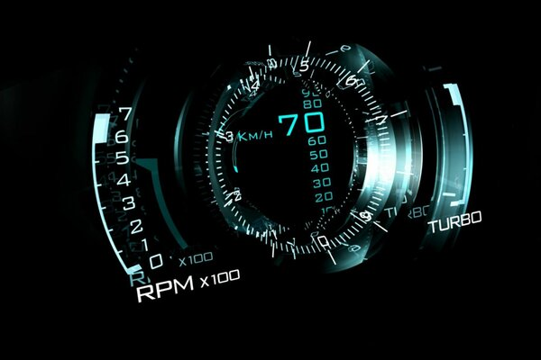 speedometer abstract