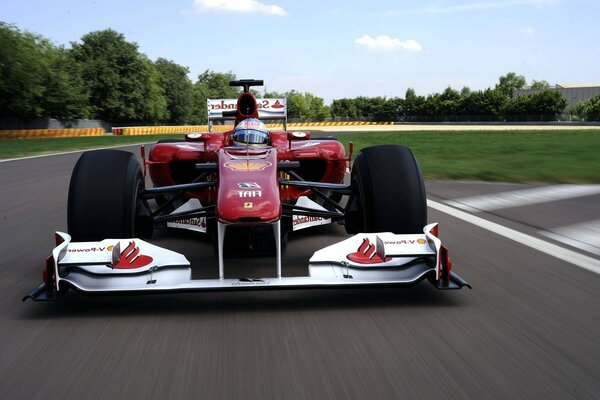 F1 Fernando Alonso ferrari f10 the speed of Ferrari s fernand