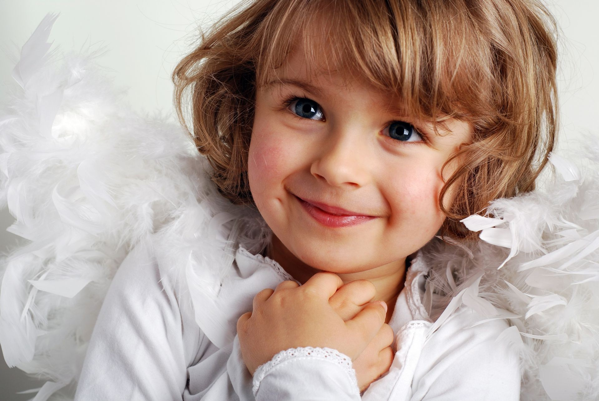 Childhood little girl beautiful child cute smile New y ...