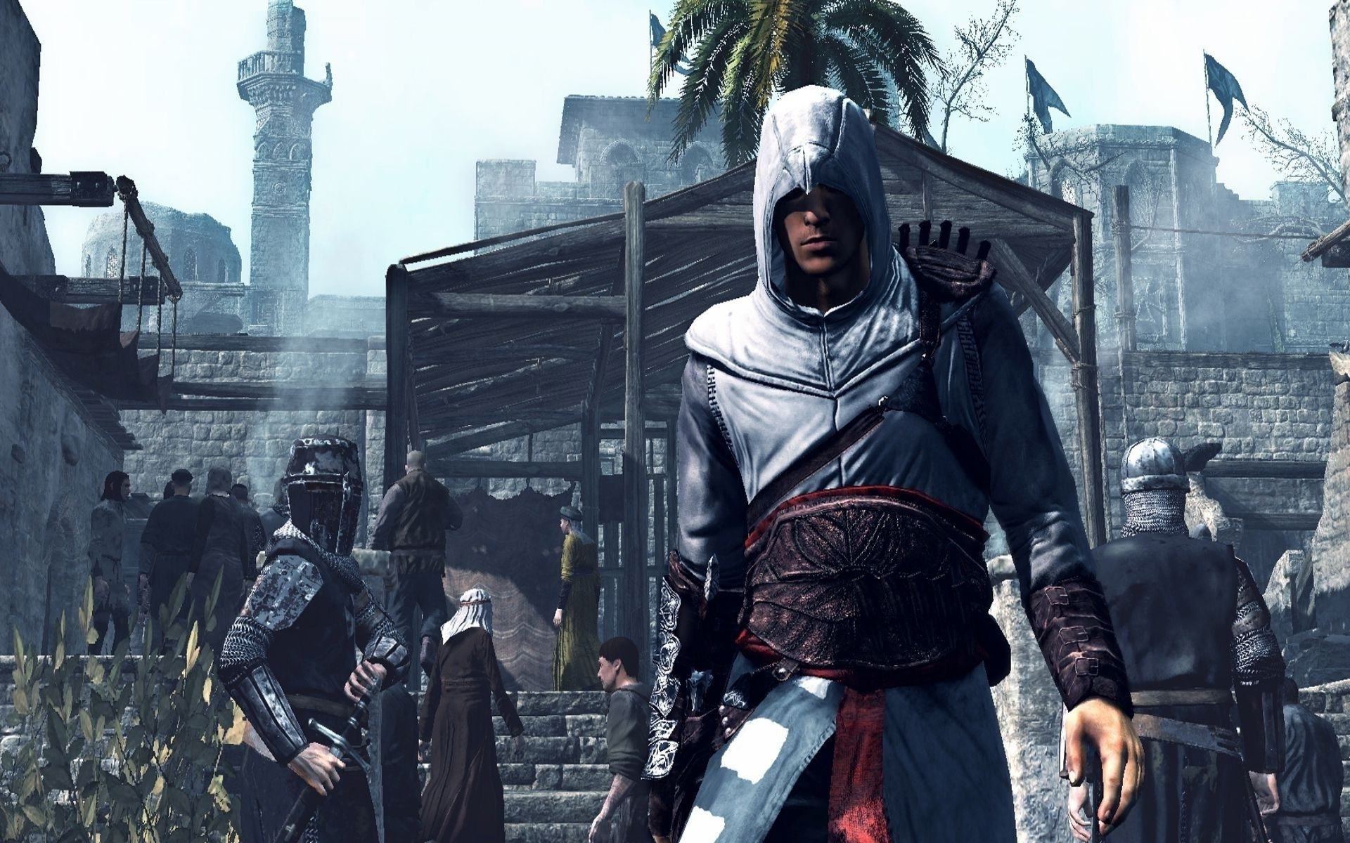 sky Altair Palma soldiers Assassin's creed