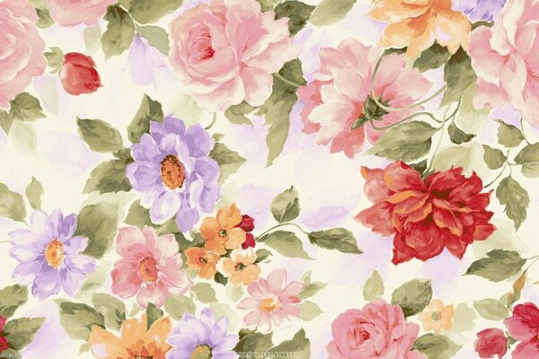paint Flowers background