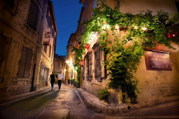 France night saint remy de provence France night street