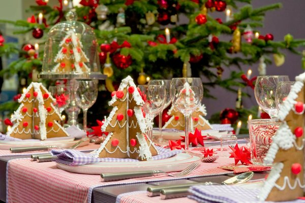 Christmas trees Christmas Table decoration sweets baked