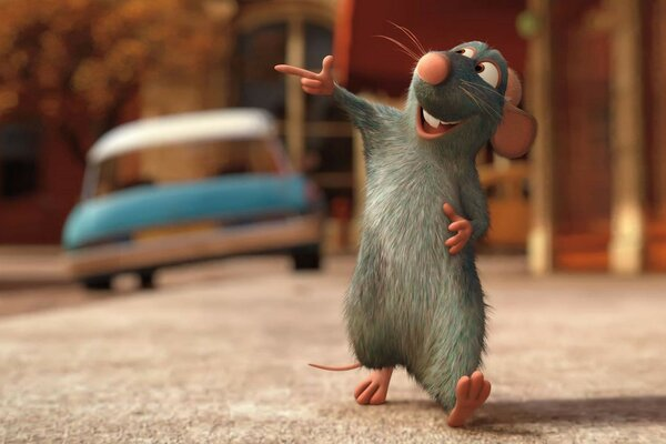 Ratatouille Pixar film France machine disney mouse