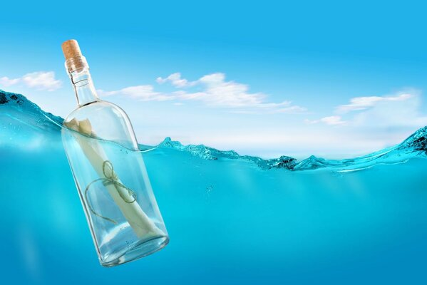 a letter in a bottle letter bottle