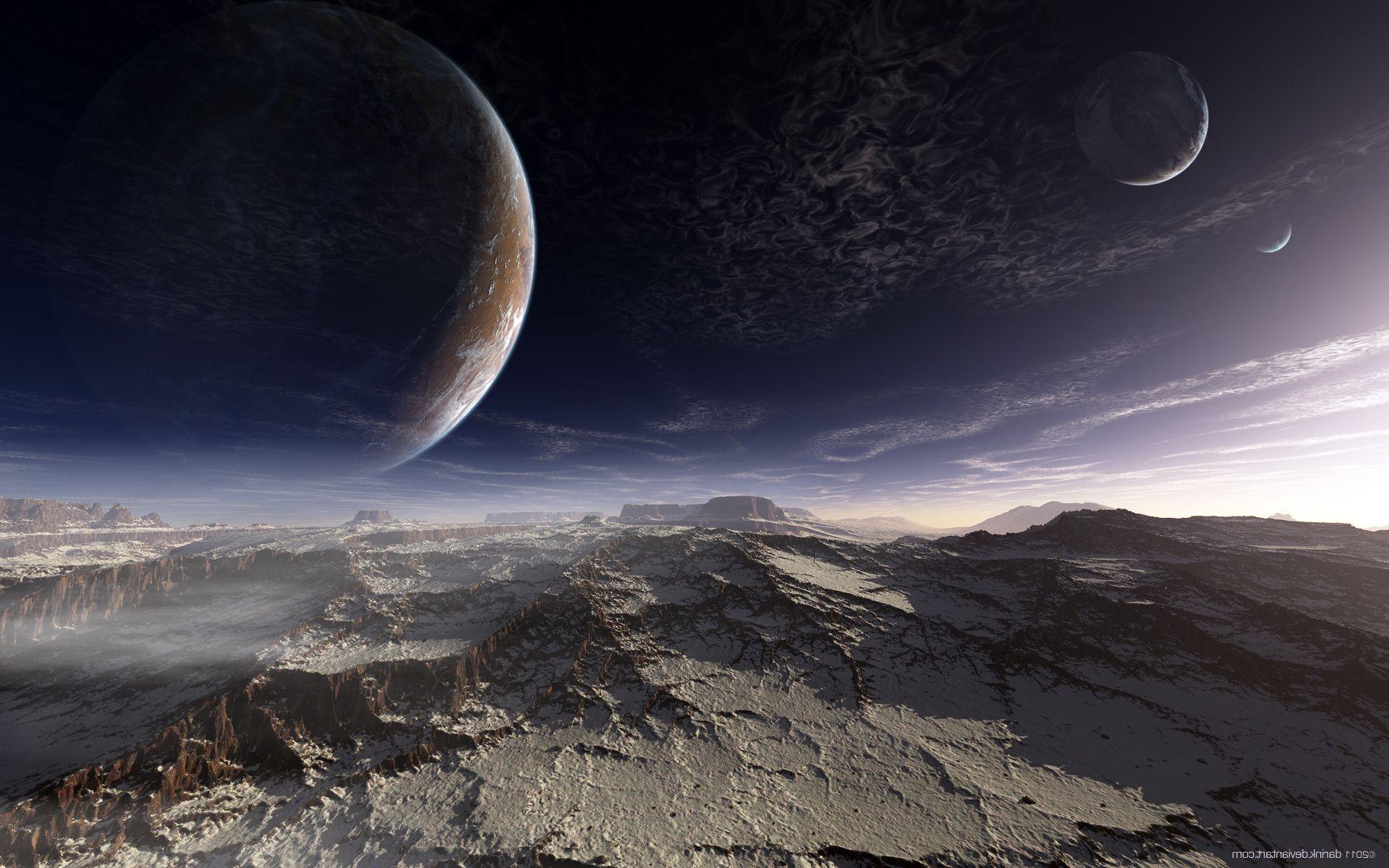 alien landscapes wallpaper - HD1366×768