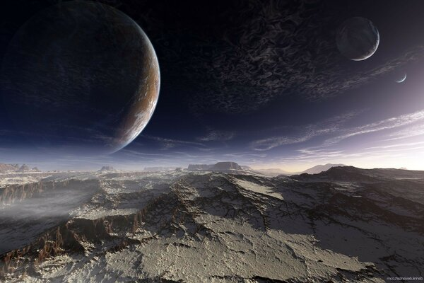 mountain sky alien planet the planet's surface Terraspace