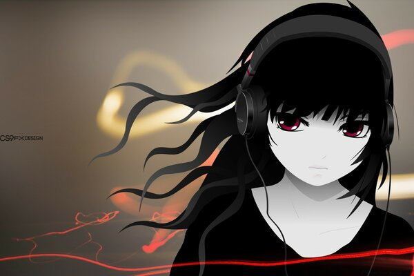 Girl with Headphone Full HD - by CS9 Fx Design