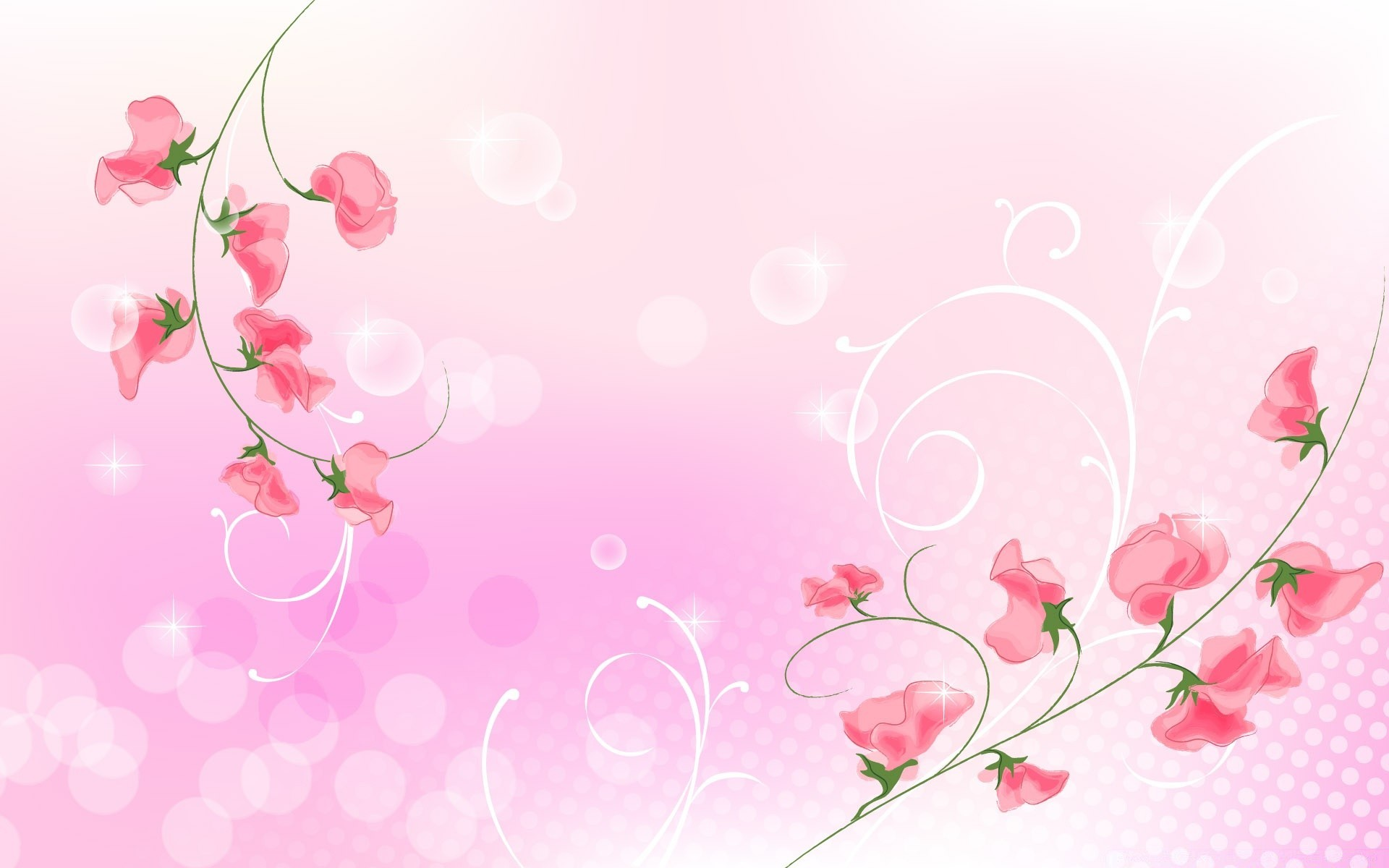 Pink flowers illustration android wallpapers for free mightylinksfo