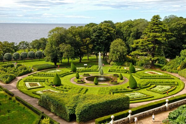 Dunrobin Castle gardens UK national Park