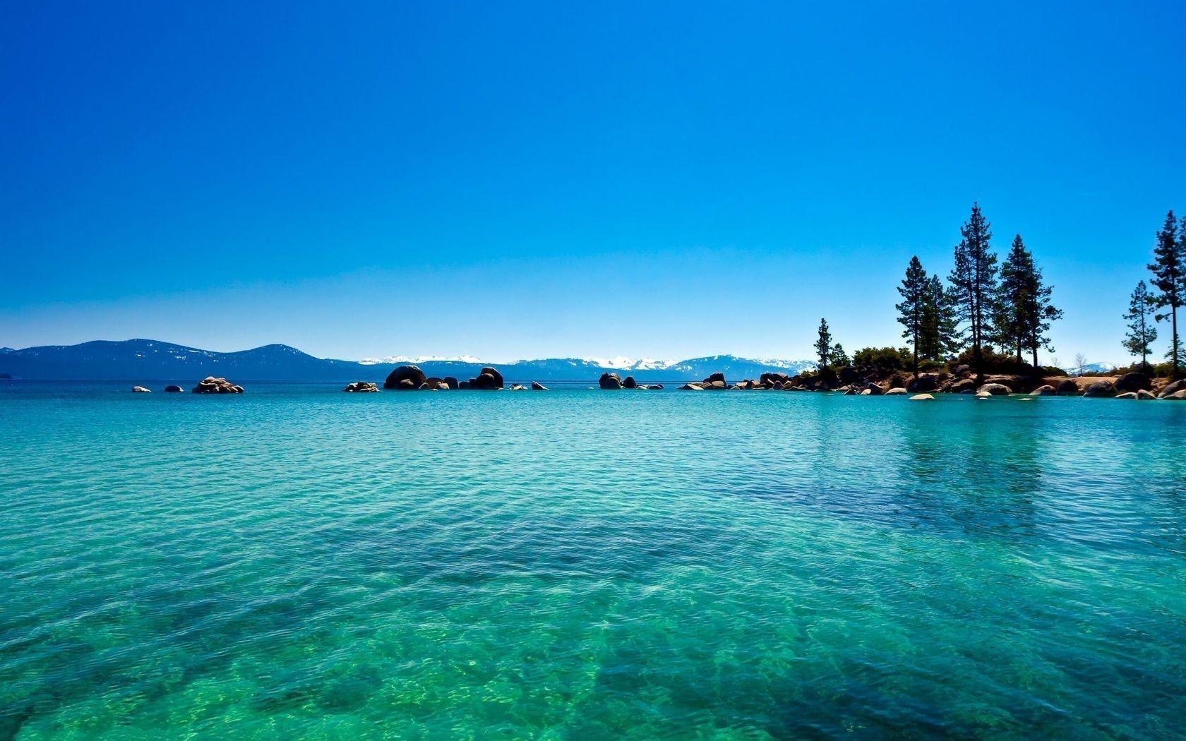 Lake tahoe california blue water lake forest - Phone wallpapers