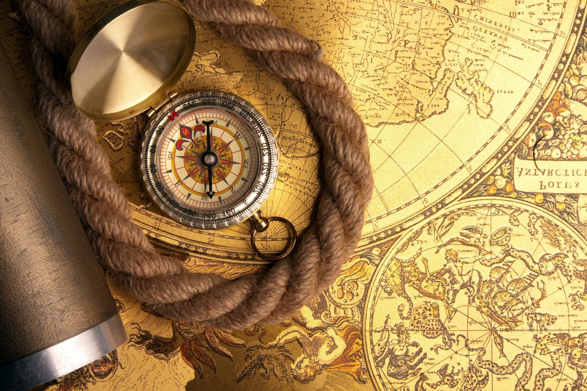 Compass Map Rope Android Wallpapers For Free