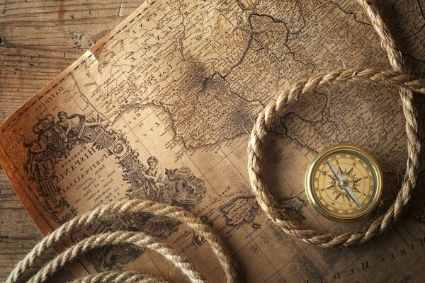 compass map rope desktop