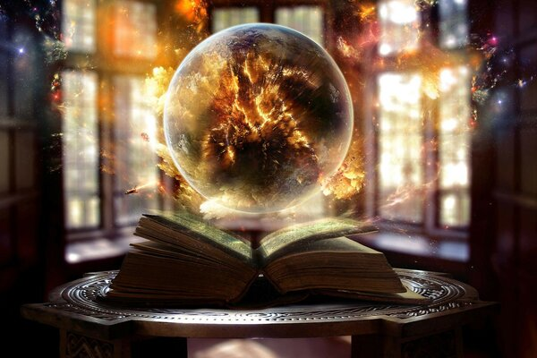 magic fire sphere ball sparks book