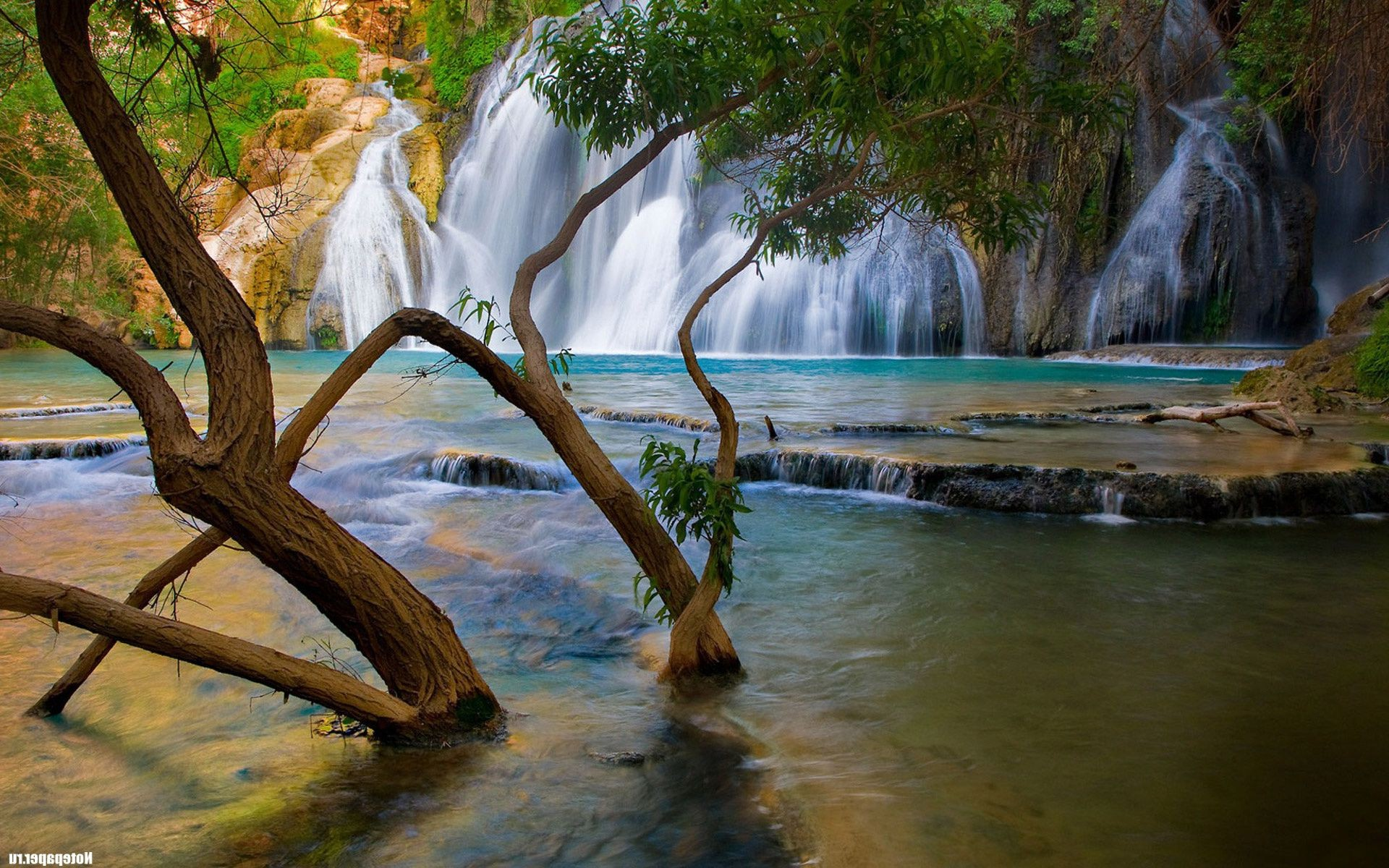 waterfalls water waterfall wood nature tree river travel stream rock landscape leaf outdoors fall tropical wet park flow beautiful pool
