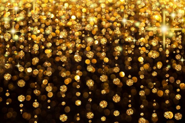 holiday background glitter gold rain