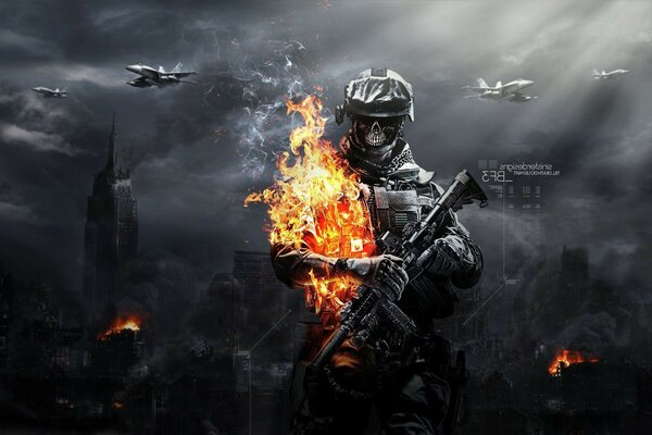Battlefield 3 soldier zombies, fire zombies