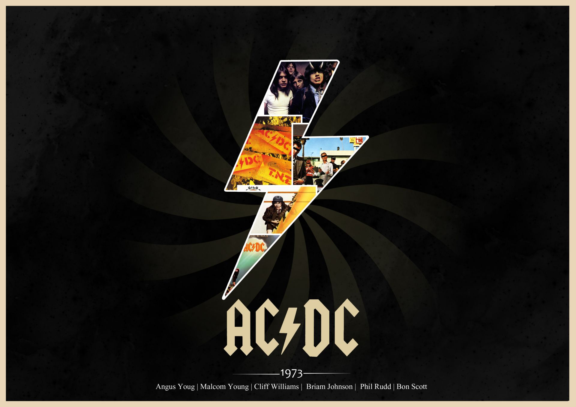 the cover of 1973 classic rock albums ac/dc