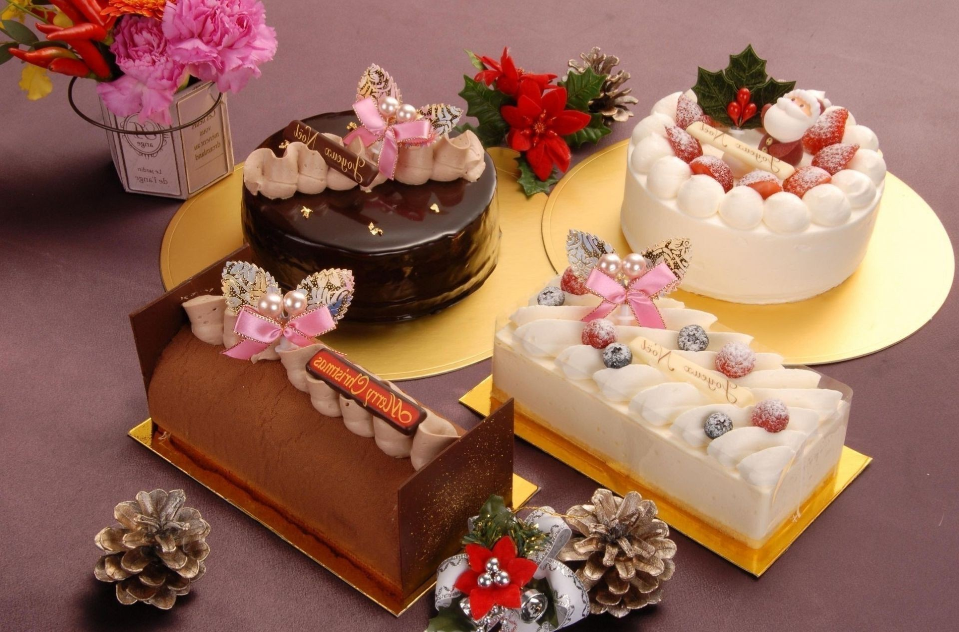 new year chocolate decoration cream cake luxury sugar food flower sweet candy