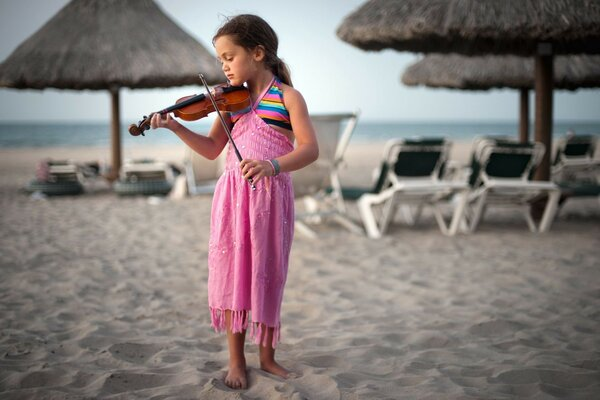 Girl music violin