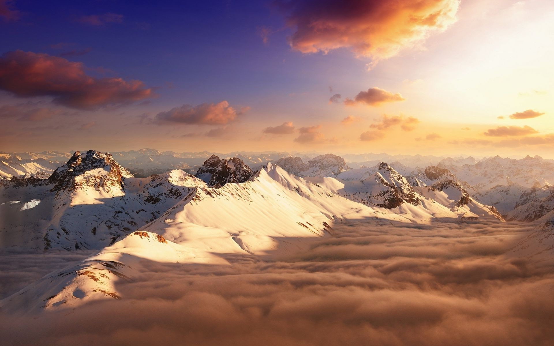 Clouds mountains sky - Phone wallpapers