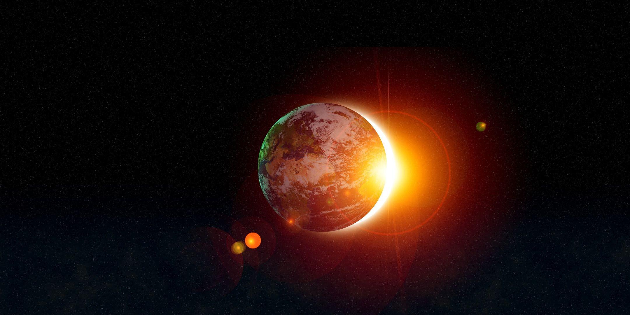planets surrounding the sun - HD2160×1080