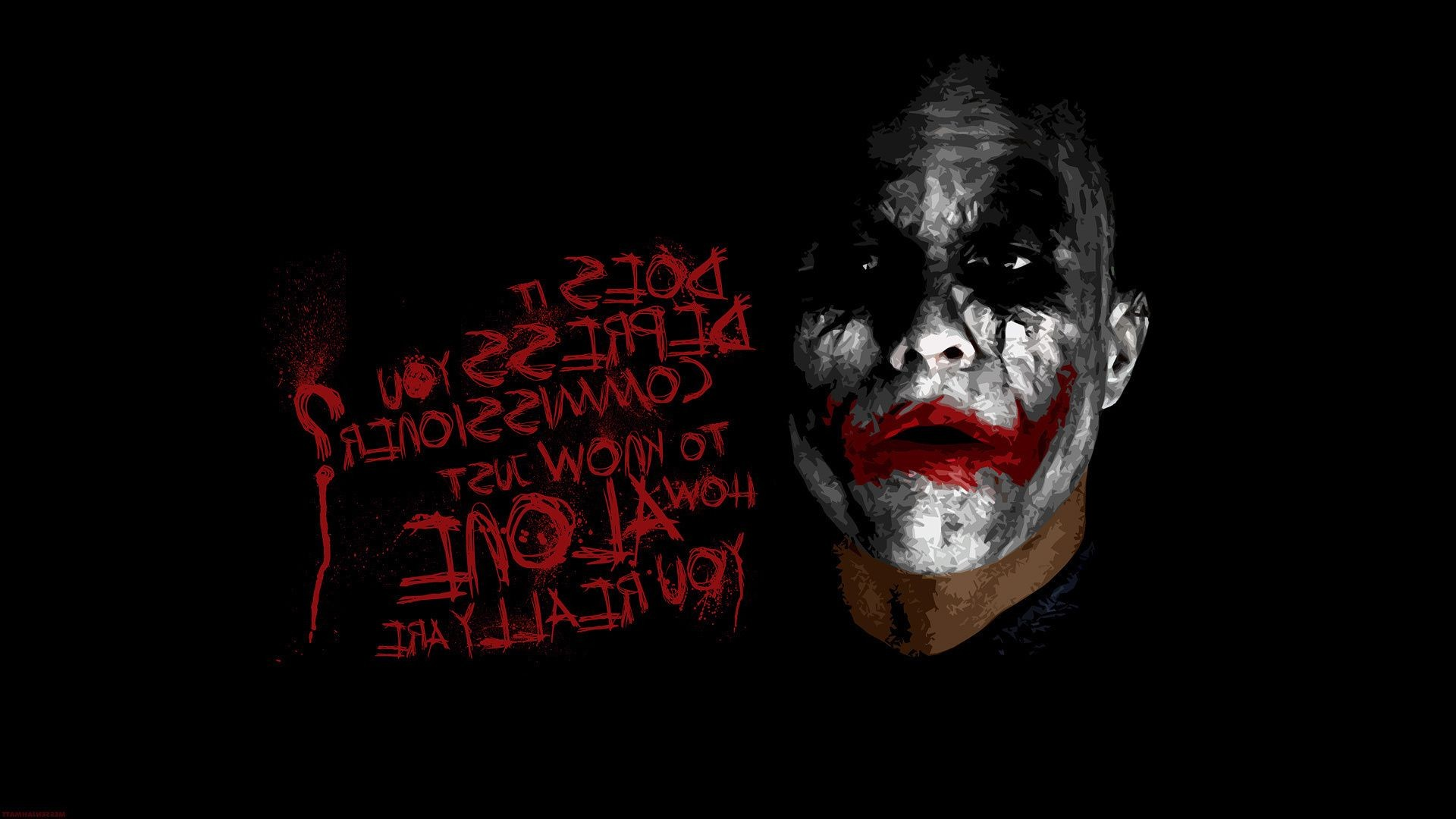 Heath Ledger Dark Knight The Batman Joker Joke Android Wallpapers For Free
