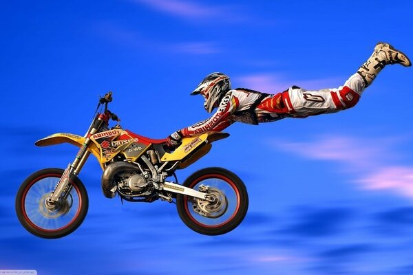 dirt bike action