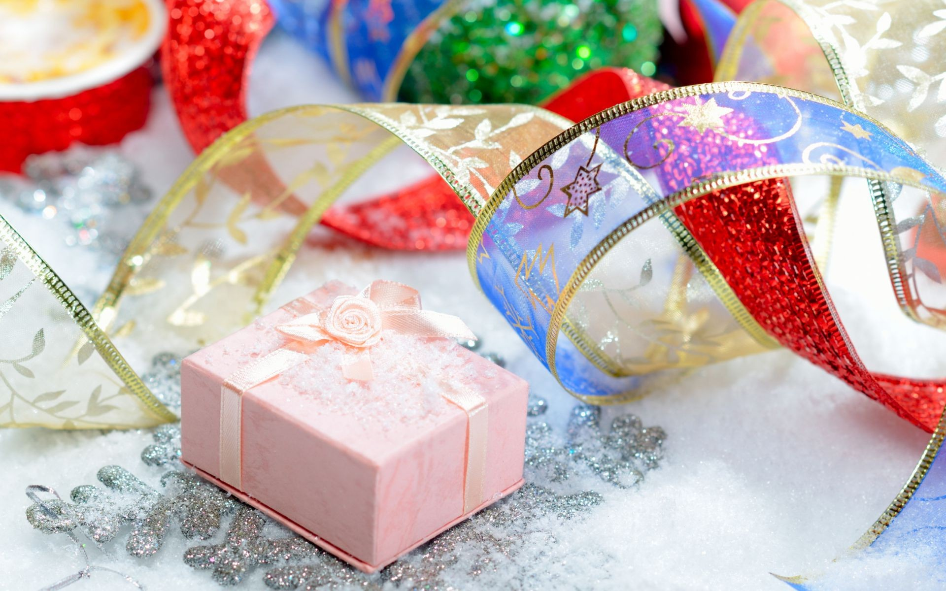 new year thread christmas celebration bow gift decoration box birthday winter shining party surprise desktop gold anniversary luxury
