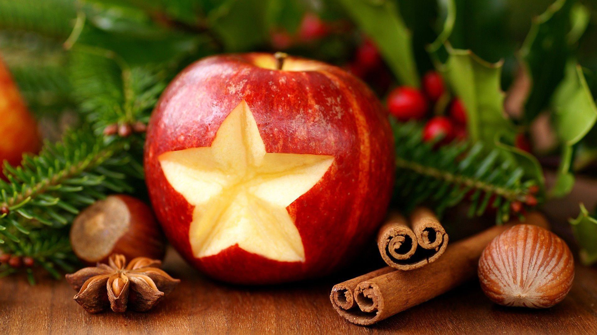 New year Christmas holiday Apple cinnamon